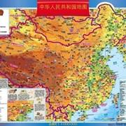 Китай. Навчальна з/г карта (на картоні на планках) (китайська мова) фото