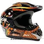 Детский защитный кроссовый шлем SHOT RACE L ( 53-54 см ) черно-оранжевый фото