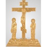Крест Голгофа №3 золочение фото