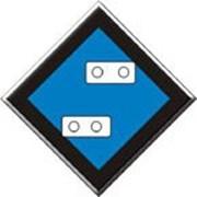 Знак Указатель «Подготовиться к опусканию токопримника» фото
