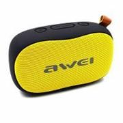 Колонка беспроводная AWEI Y900, Bluetooth, черно-желтая фото