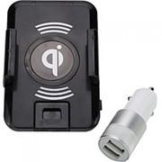 Беспроводная зарядка - автомобильный держатель в комплекте с АЗУ фото