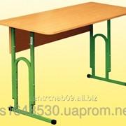 Стол ученический 2-местный, с регулировкой по высоте, 0158 фото