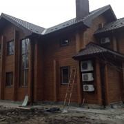 Дома из профилированного и D подобного клееного бруса, бруса из массива древесины (будинки із зрубу під ключ) фото
