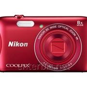 Цифровая фотокамера Nikon Coolpix S3700 Red (VNA822E1) (официальная гарантия), код 104706 фото