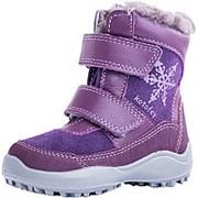 352161-52 фиолетов. ботинки малодетско-дошкольные нат. кожа Р-р 24 фото