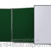 Доска аудиторная 3х - створчатая 3000х1000 мм зеленая + белая комбинированная, 14278 фото