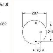 Пневмоподушка SAF, WEWELER - 5002-03-0096P (аналог 912NP01, W01M588502) фото