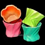 """Горшок для цветов из керамики ручной работы """"Кактусник"""" фото"""