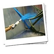 Окраска металоконструкций полимерно порошковая фото