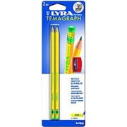 Набор чернографитовых карандашей Lyra Temagraph + точилка, В фото
