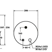 Пневмоподушка RVI Magnum, Premium - 5002-03-0049P (4911NP03, 5010294308) фото
