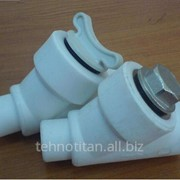 Вентиль с термоголовкой угловой фото