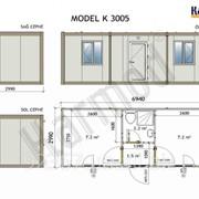 Блок контейнер K3006 модель 299мм x 694мм фото