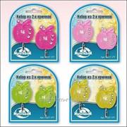 Набор из 2-х крючков Яблочки с росой 4 цвета, код: 27.177 фото