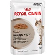 Ageing +12 (в соусе) Royal Canin корм для взрослых кошек, Старше 12 лет, Пакет, 12 x 0,085кг фото