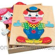 Развивающая игрушка Bino Гардероб клоуна 88001 фото