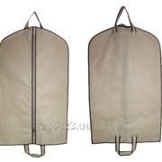Чехол для одежды 60х100 с ручками из спанбонда, пвх, плащевки. фото