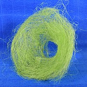Каркас для букета 25см сизаль гнездо зеленое яблоко фото