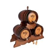 Дубовая бочка 8 л Профи на подставке 3 шт. темный лак (американский дуб) фото