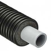 Труба полибутеновая ПБ 25 мм, с изоляцией, водопроводная фото