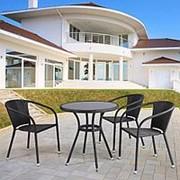 Комплект плетеной мебели T282ANS/Y137C-W53 Brown 3Pcs фото