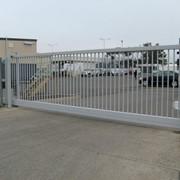 Ворота откатные решетчатые фото