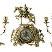 Бронзовые каминные часы с канделябрами арт.BP-35046 Belo De Bronze фото