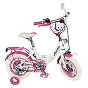 Детский велосипед Hello Kitty 14 дюймов HK 0074 W Бело-розовый фото