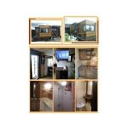 Трехмодульный банный дом с альтанкой-басcейном 6,3х6,9х3,0 деревянный каркас, комплектация Премиум фото
