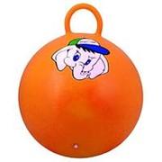 """Мяч-Попрыгун Starfit GB-401""""Медвежонок"""" 45 см с ручкой, оранжевый Starfit фото"""