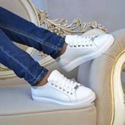 """Женские кожаные кеды """"PHILIPP PLEIN"""", в моделях. ВВ-4-0817 фото"""
