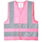 Жилет детский светотражающий Glow, S, розовый фото