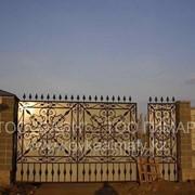 Кованые ворота 18 фото