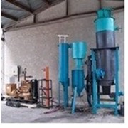 Генератор газа, газген, на твёрдом топливе для электрогенератора фото