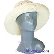 Шляпа летняя плетеная молочная 38/80-1 фото
