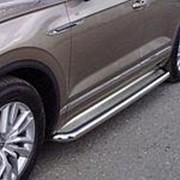 Пороги VW Touareg 2018-наст.время (с площадкой нерж. сталь 60,3 мм) фото