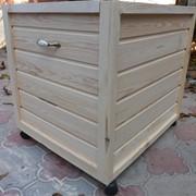 Деревянный ящик для детских игрушек фото
