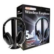 Беспроводные наушники 5 в 1 + FM радио Wireless фото
