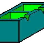 Камень бетонный стеновой СБГ 190-140 190х140х190 цветной фото