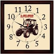 Часы настенные в деревянном корпусе с логотипом предприятия фото