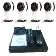 """Комплект видеонаблюдения """"Zodikam Combo Mini 4 WiFi"""" (4 мини IP Wi-Fi камеры+регистратор) фото"""