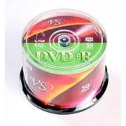 Диск DVD+R VS 4,7GB, 16x cakebox/50шт, записываемый фото