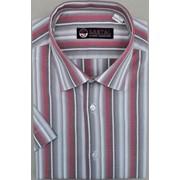 Приталенная мужская сорочка (короткий рукав) фото