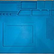 Силиконовый антистатический коврик для ремонта и пайки 450*300 мм фото