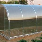 Теплица Рязаночка 4м грунт, длина 8000 мм, поликарбонат 4 мм, 6 лет заводской гарантии фото