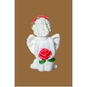 Фигура Ангел з трояндою кольор. 11x8x6 см Ф 2014-16 фото