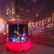 Ночник проектор звездного неба Новогодний фото