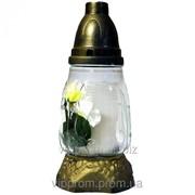 Лампадка стеклянная Цветок 18 часов (15шт./ящ.) Ивано-Франковск фото