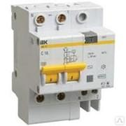 Автоматический выключатель ВА 47 2Р 16А 30мА (ИЭК АД-12) фото